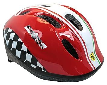 Ferrari Niño Casco de Bicicleta para niño, de Color Rojo, M, 802034: Amazon.es: Deportes y aire libre