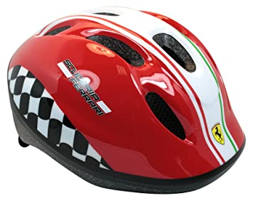 Ferrari Niño Casco de Bicicleta para niño, de Color Rojo, M, 802034