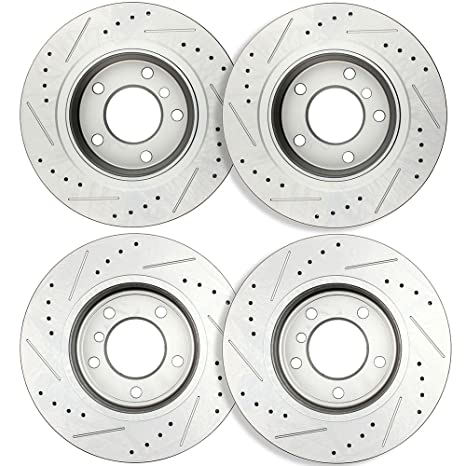 Front+Rear Brake Rotors Metallic Pads For 2001 2002 2003 2004 2005 E46 BMW 325Xi