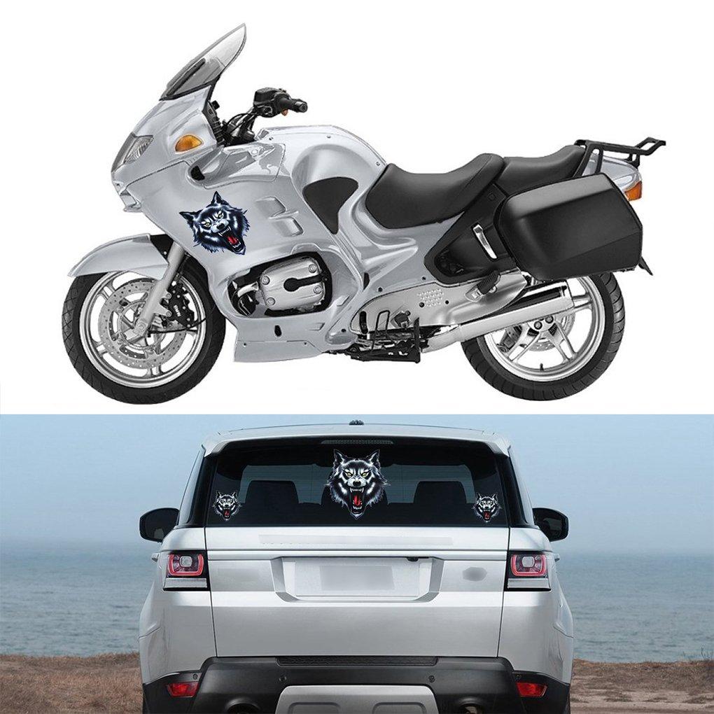 Amazon.com: F-blue Wolf Head Motorcycle Motorbike Car Door Decal Badge Paster Film Emblem Stickers Truck Helmet Decor: Cell Phones & Accessories