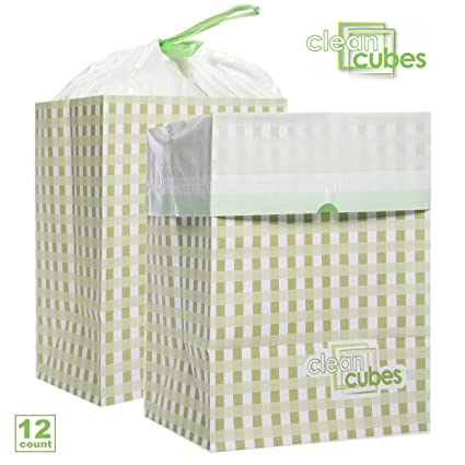 disposable trash cans. Clean Cubes 12 Count Disposable Trash Cans And Recycling Bins For Home Office With Liner Bags E