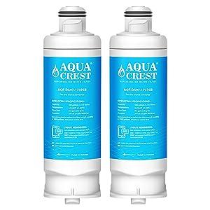 AQUACREST Replacement DA97-17376B Refrigerator Water Filter, Compatible with Samsung DA97-17376B DA97-08006C HAF-QIN HAF-QIN/EXP (Pack of 2)