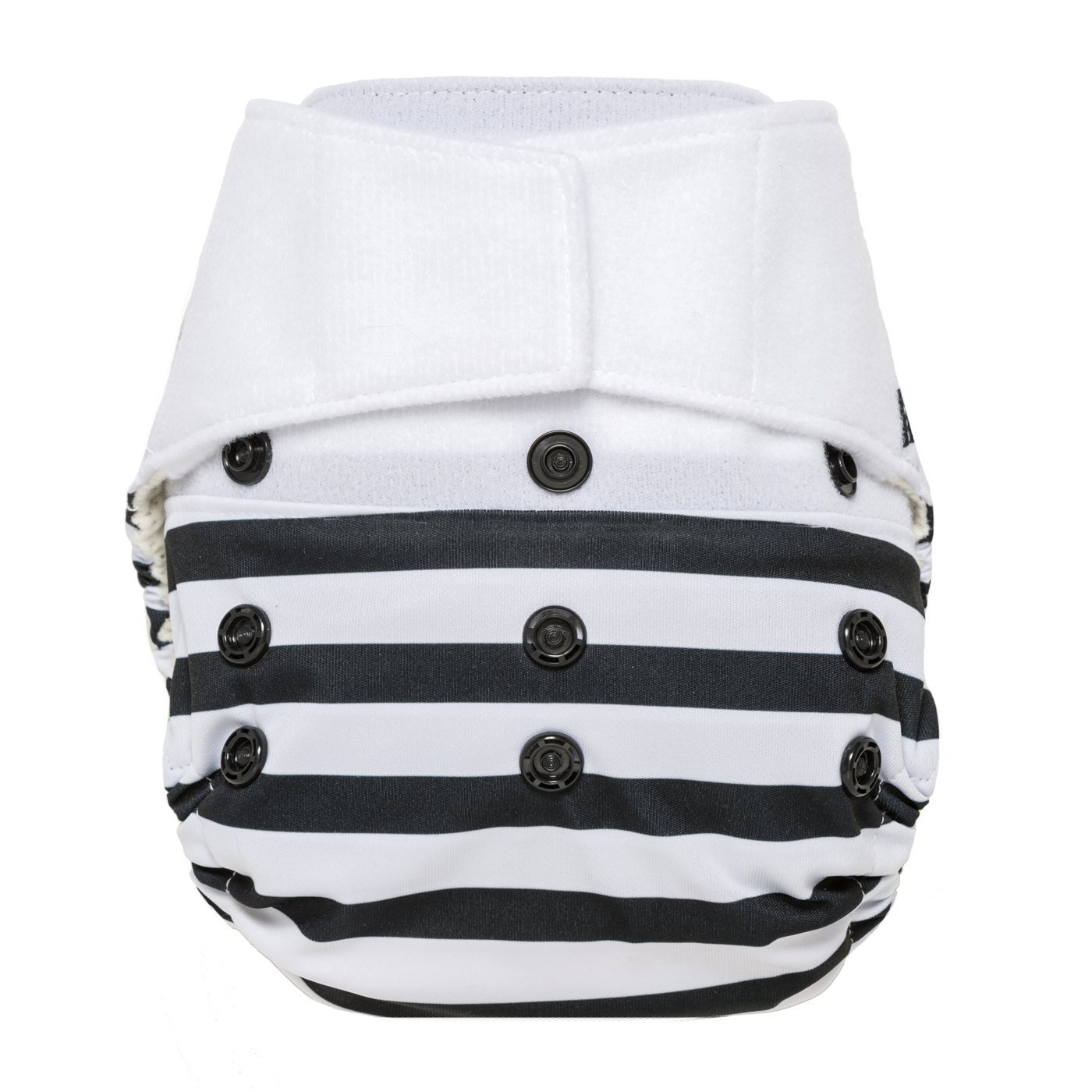 GroVia Hybrid Cloth Diaper Shell, Hook & Loop Shell (Onyx Stripe)
