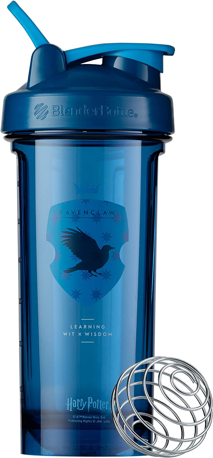 BlenderBottle Harry Potter Shaker Bottle Pro Series Perfect for Protein Shakes and Pre Workout, 28-Ounce, Ravenclaw (Learning)