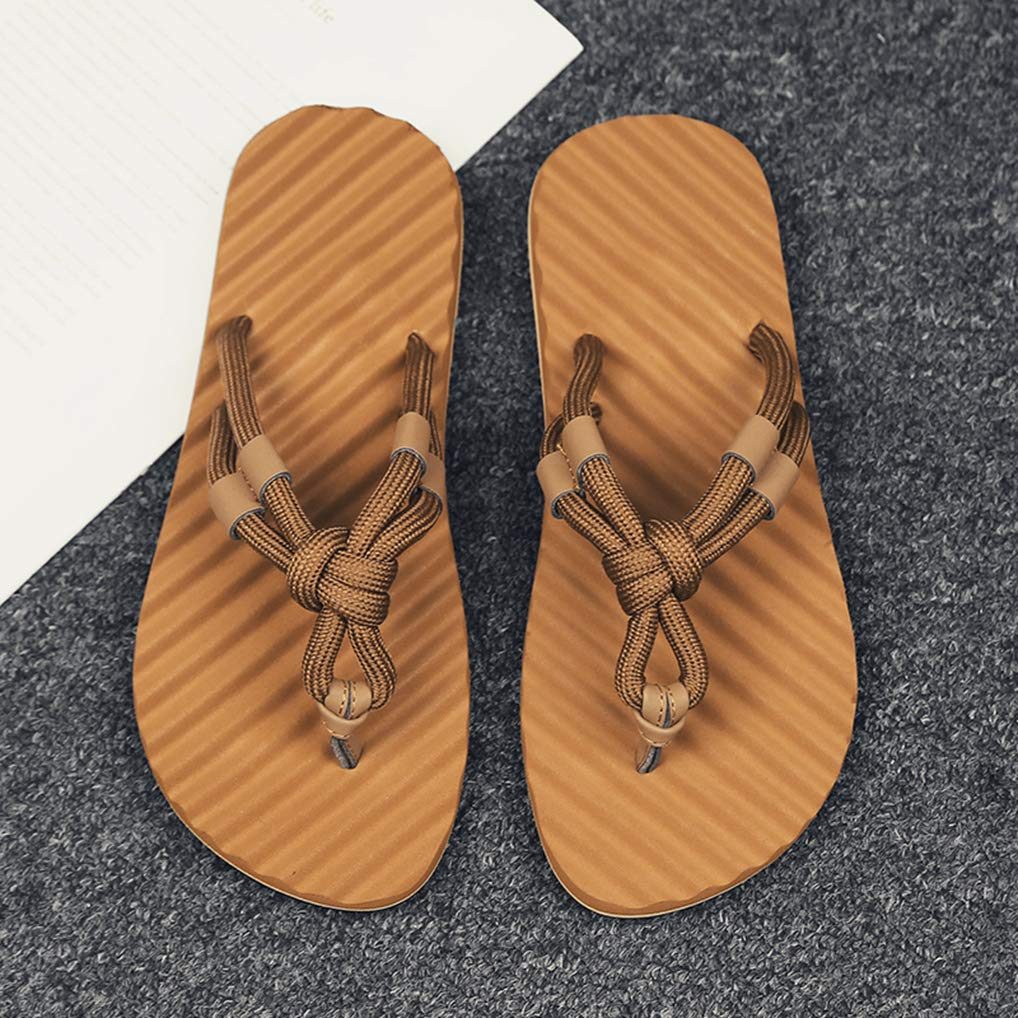 August Jim Flip Flops for Mens Summer Comfort Lightweight Durable Beach Sandals