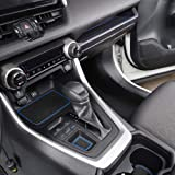 MagicCar for Toyota RAV4 2019-2020 Custom Fit Cup Holder, Door, and Center Console Liner Accessories 13-pc Set (Blue)