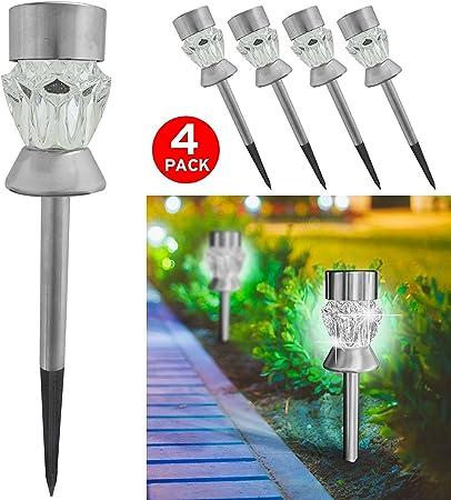 Lampes Table Lampe 4 Solaires Pour Jardin Lot De De Asab Et