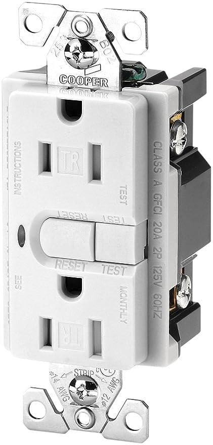 Eaton Wiring 9566trws Aspire Tamper Resistant Gfci Duplex Receptacle White Satin