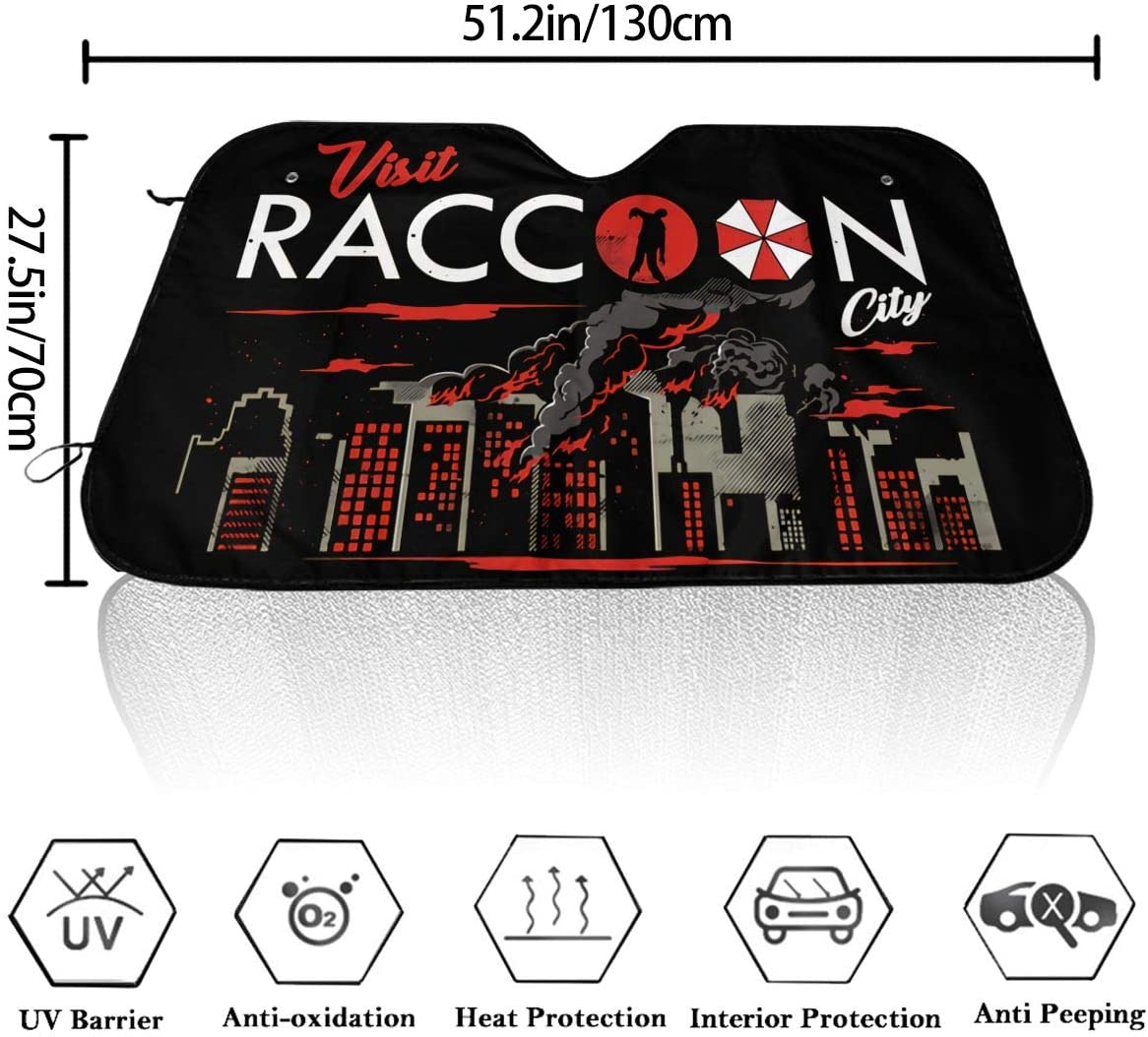 REECECAM Resident Evil Operation Raccoon City Windshield Snow Cover No More Scraping Car Fits Most Car 51.2 X 27.5