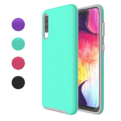 Ownest Compatible Samsung Galaxy A50 Case Non-Slip Anti-Fall Dual Layer 2 in 1 Hard PC TPU with Protection Lightweight for Samsung Galaxy A50(6.4 ...