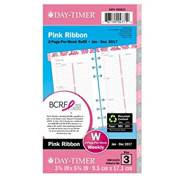 Amazon.com : Day-Timer Weekly Planner Calendar Refill 2017, Two ...