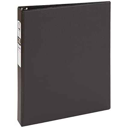 amazon com avery economy binder with 1 inch round ring black