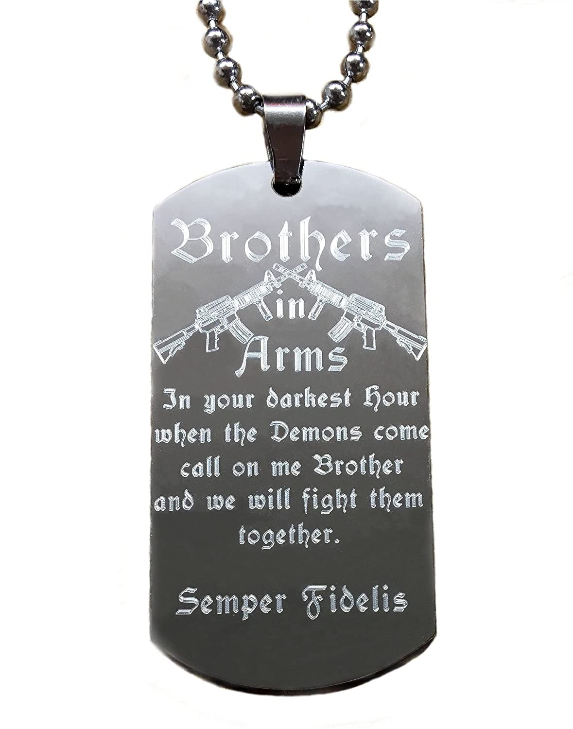 'Dog de día Brothers In Arms in your darkest Hour When The Demons Come..... WE Will Fight Them Together