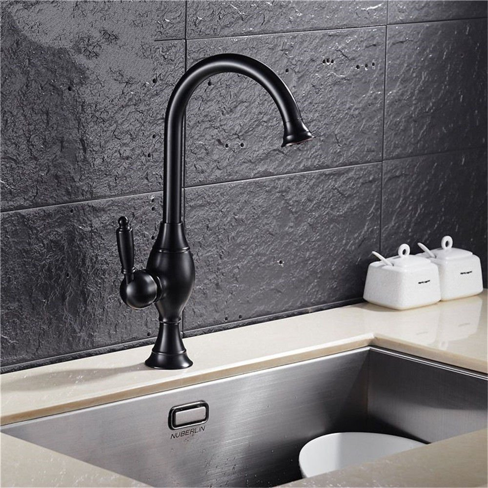 Lalaky Taps Faucet Kitchen Mixer Sink Waterfall Bathroom Mixer Basin Mixer Tap for Kitchen Bathroom and Washroom Retro Copper Paint Hot and Cold