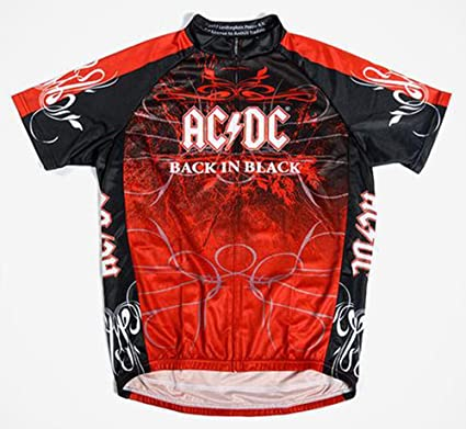 e40bc6f4c Primal Wear AC DC Back in Black Cycling Jersey Mens Medium Short Sleeve