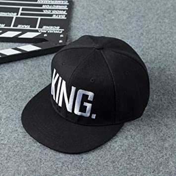 Sanjiayi 2019 Moda Hip Hop Gorras King Queen Letra Bordado ...