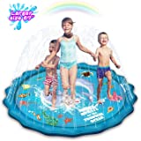 """Abida Splash Pad, 67"""" Outside Sprinkler Play Mat for Kids, Extra Large Party Infant Wading Pool Fun Summer Outdoor Water Toys"""