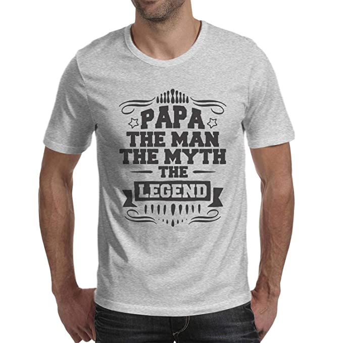 a61438681 FPPING Men's PAPA The Man Myth Legend Father Dad Fashion Slim-Fit T-Shirts  at Amazon Men's Clothing store: