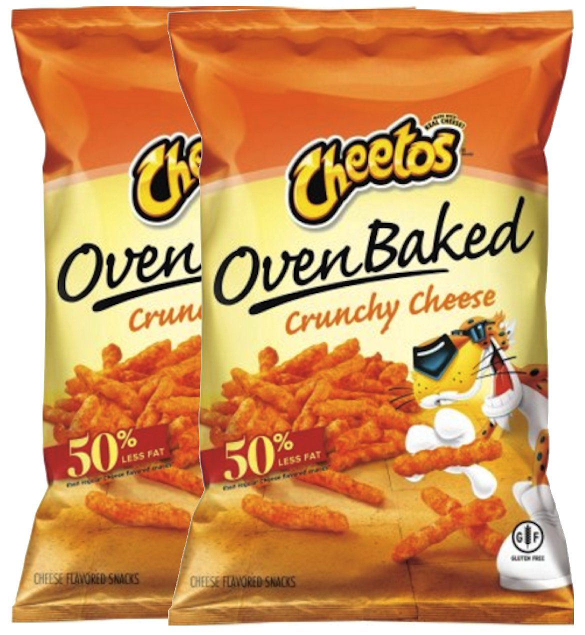Cheetos Over Baked Crunchy Cheese Gluten Free Snacks 7.63 Oz Snack Care Package for College, Military, Sports (2)