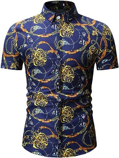 Camisa Tropical para Hombre de Estilo Hawaiano de Manga Corta Camisas de Verano: Amazon.es: Ropa y accesorios