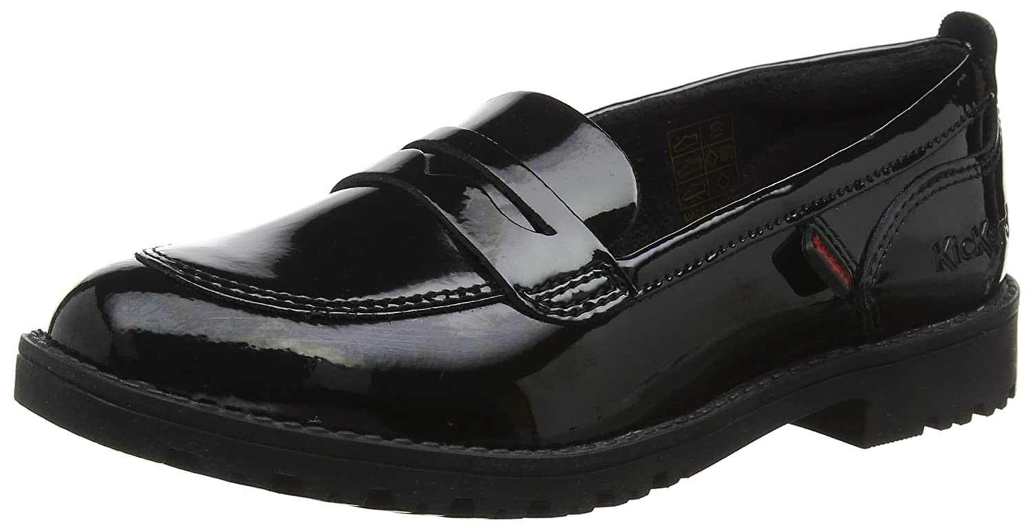 Kickers Lachly Patent, Mocassins Fille 115233