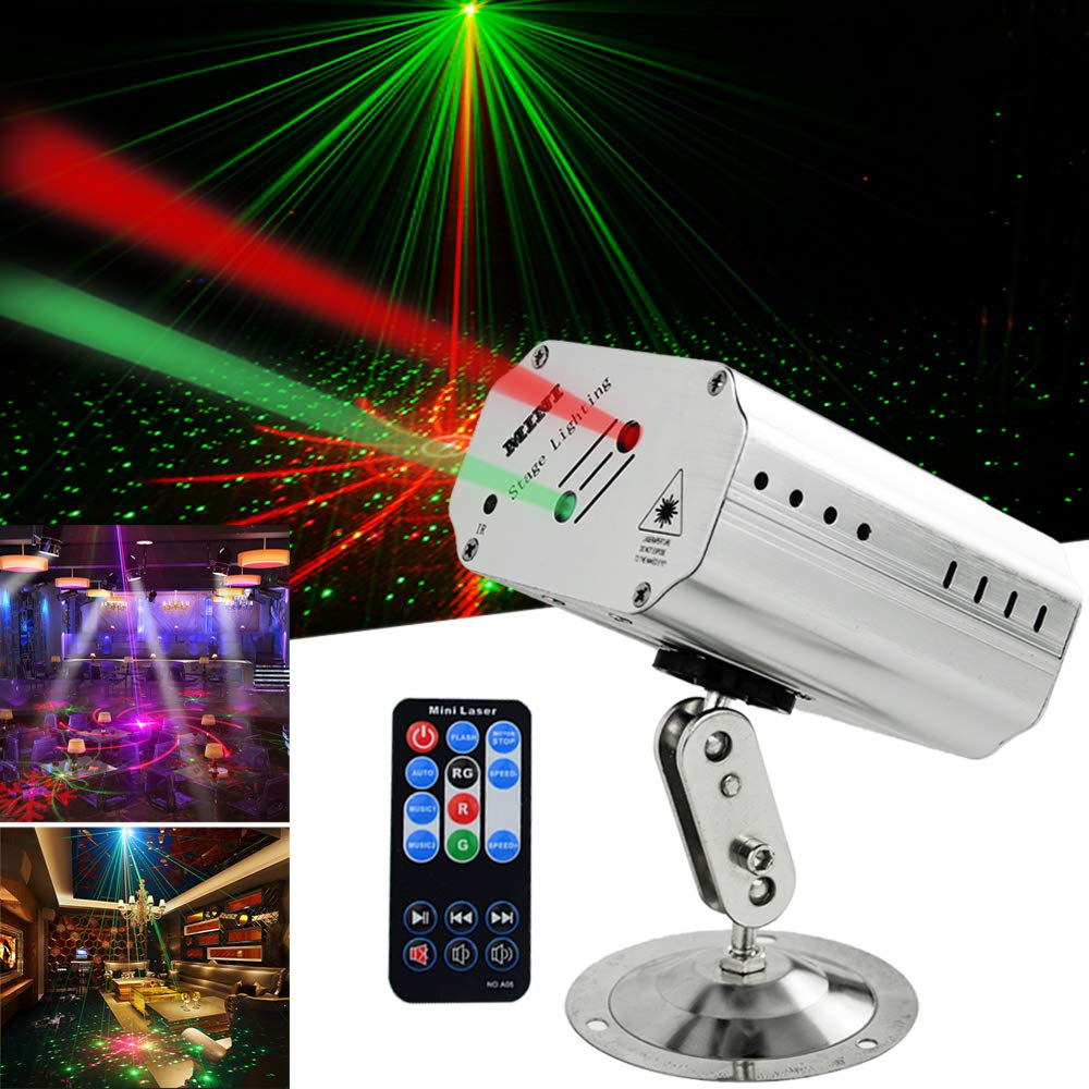 Party lights Disco DJ Lights Projector Effect Strobe Stage Light with Remote Control great for Birthday Party Club KTV Karaoke Bar Dancing Christmas Festivals by SUYBUY