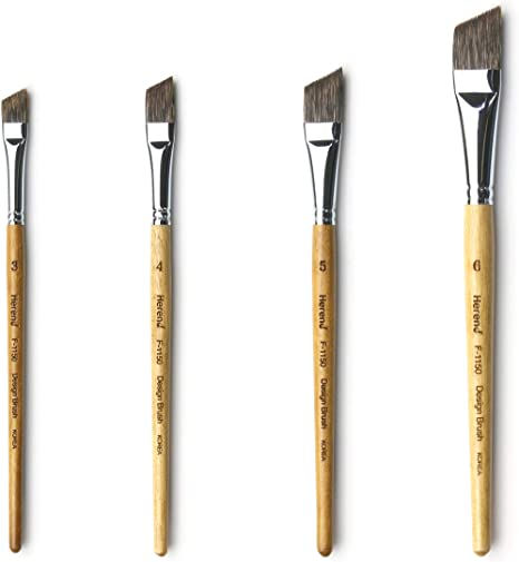 No.2 ~ No.30 Herend Brush Series KOF-7800 for Erasing Watercolor with Strong Synthetic Hair//Hake Flat Paintbrush Mini No.10