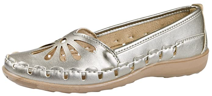 LD Outlet - brogue mujer, color blanco, talla 38.5