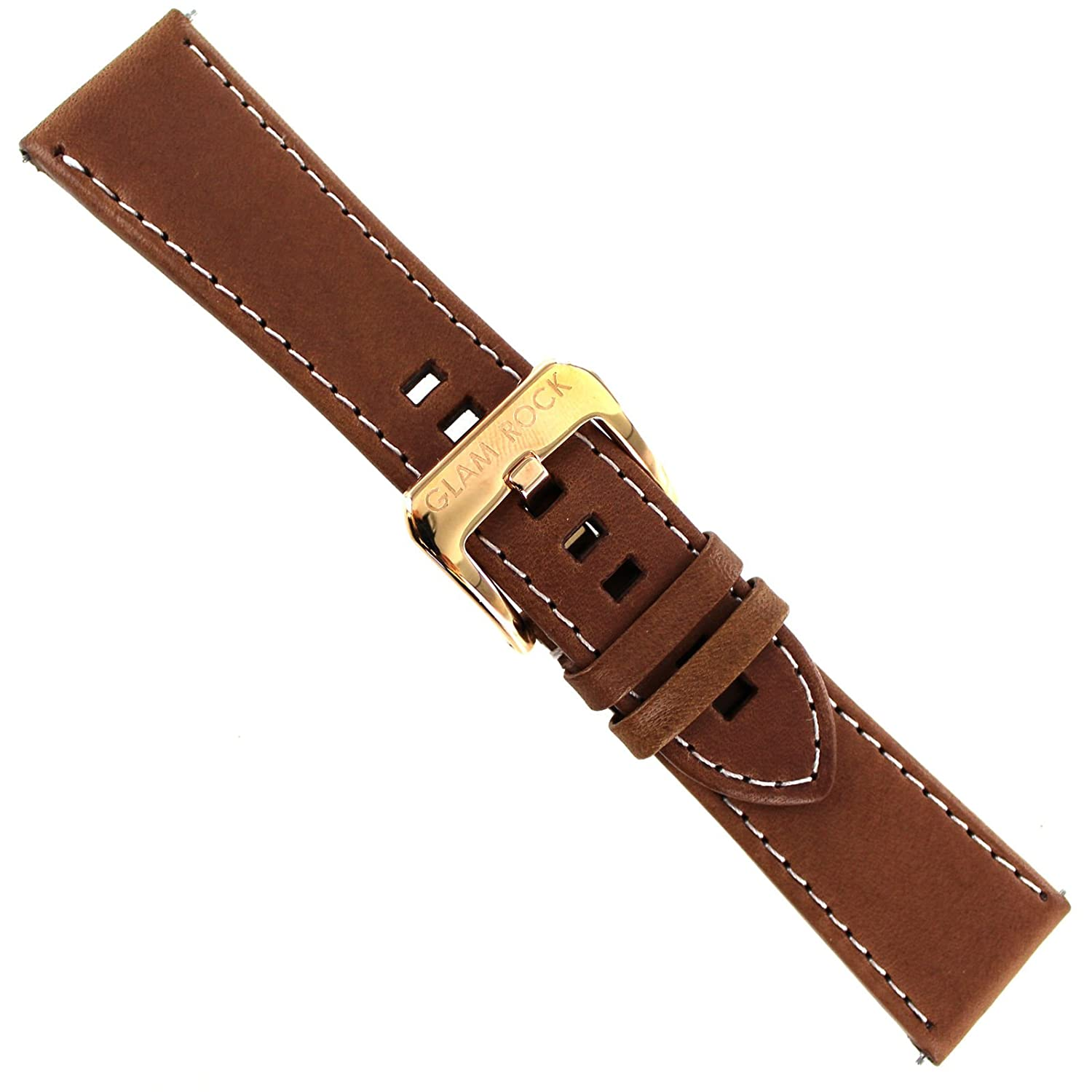 19MM LEATHER STRAP BAND FOR TAG HEUER CARRERA TWIN TIME CALIBRE 7 BROWN 3TC