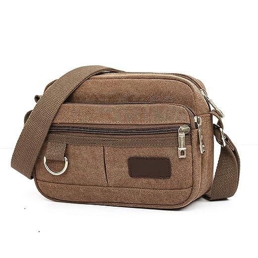 d172a151dfcb Amazon.com: Men Travel Bags Cool Canvas Bag Fashion Men Messenger ...