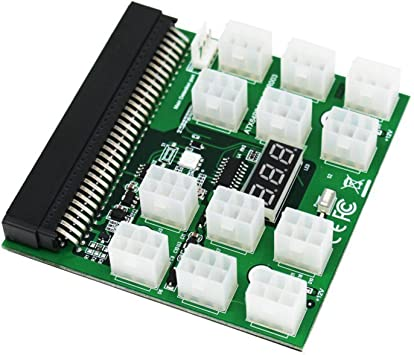 12 Ports 1200W//750W Power Supply Breakout Board for HP PSU Mining Ethereum ZEC