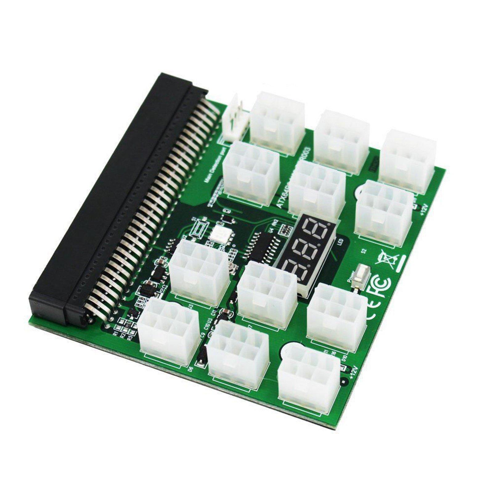 XBERSTAR 1200w/750w Breakout Board for HP PSU GPU Mining Ethereum ZEC ZCASH ETH with Button by XBERSTAR