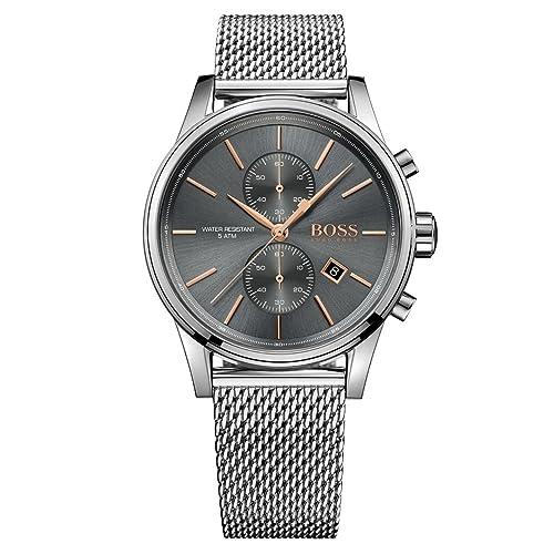 Reloj Hugo BOSS para Hombre 1513440 Gris Acero Gris