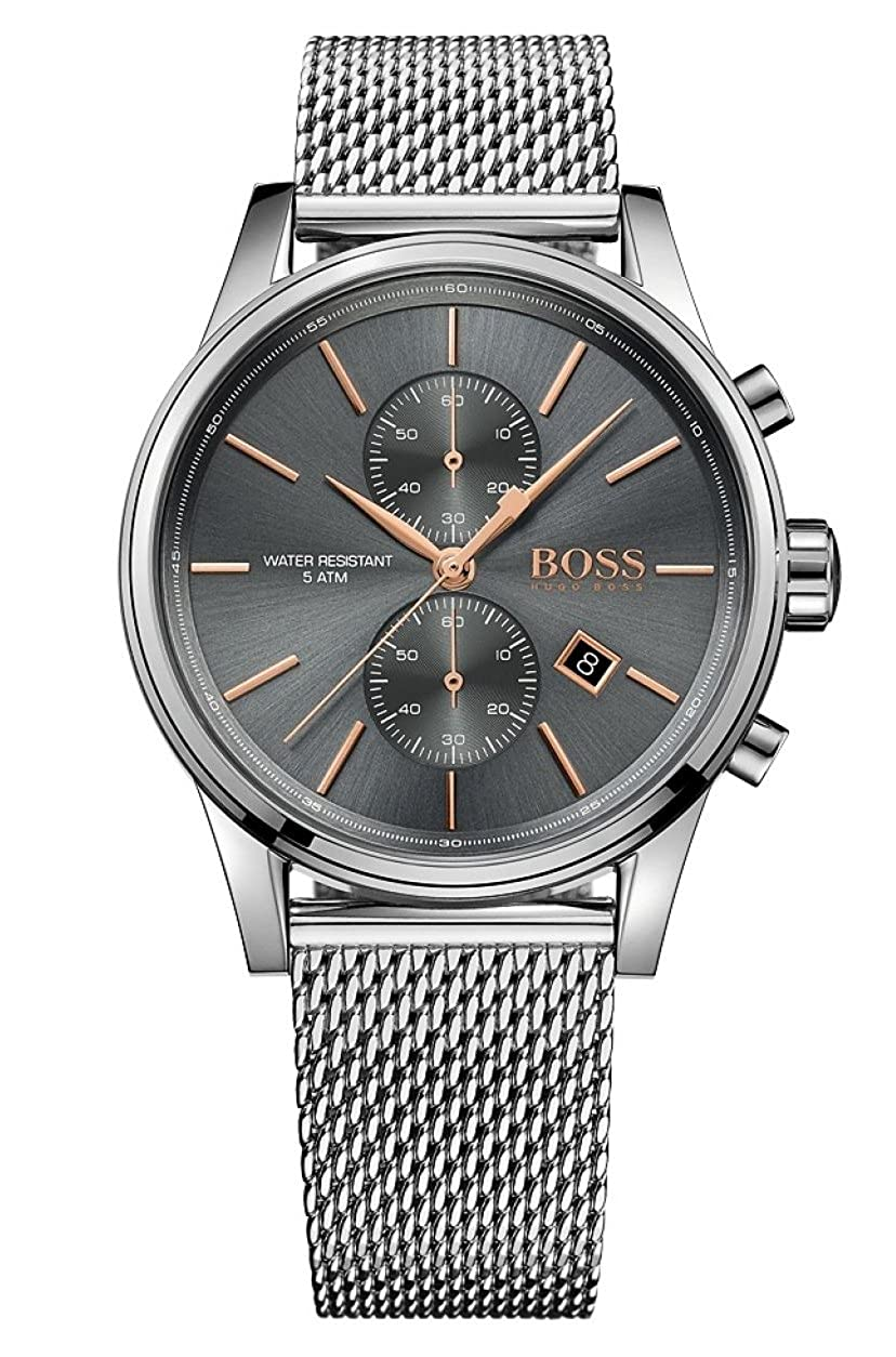 Amazon.com: Boss JET Mesh 1513440 Mens Chronograph Design Highlight: Hugo Boss: Watches