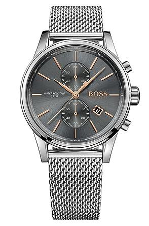 Hugo Boss Herren Armbanduhr 1513440 Stahlgrau Amazonde Uhren