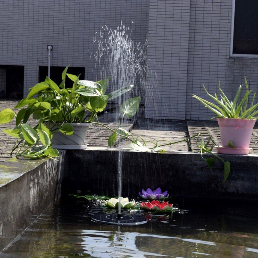 Solar Birdbath Fountain Pump Solar Bird Bath Fountain Pump - Outdoor Watering BirdBath Submersible Pump for Garden and Patio - 1.4W Solar Powered Floating Fountain Kit by zqasales (Image #3)