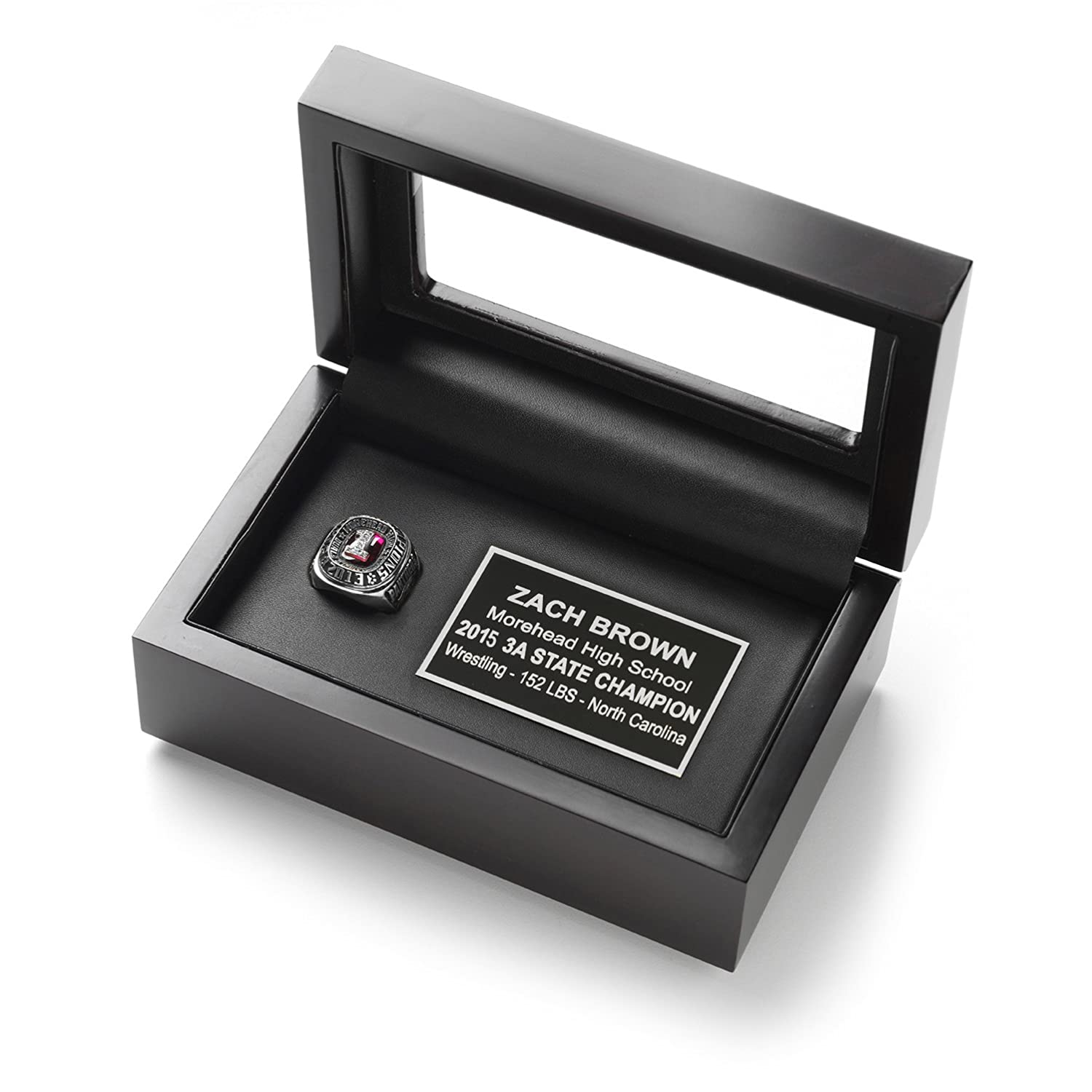 amazon com championship ring display case box with free
