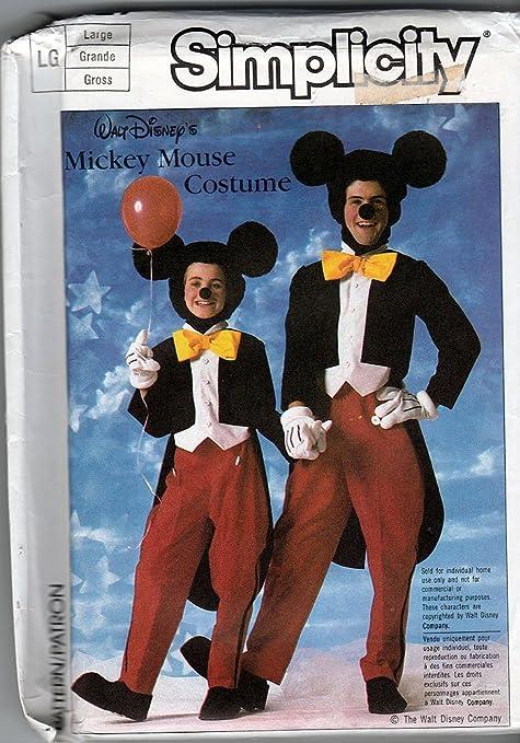 Simplicity 7729 Vintage 80s Disneys Mickey Mouse disfraz patrón ...