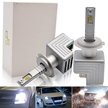 H7 LED Faro Bombillas Kit - Safego 40W LED Chips 6000LM LED Coche Kit de Conversión