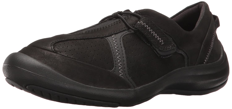 CLARKS Women's Asney Slipon Fashion Sneaker B01N18Y8OH 7.5 C/D US|Black Nubuck