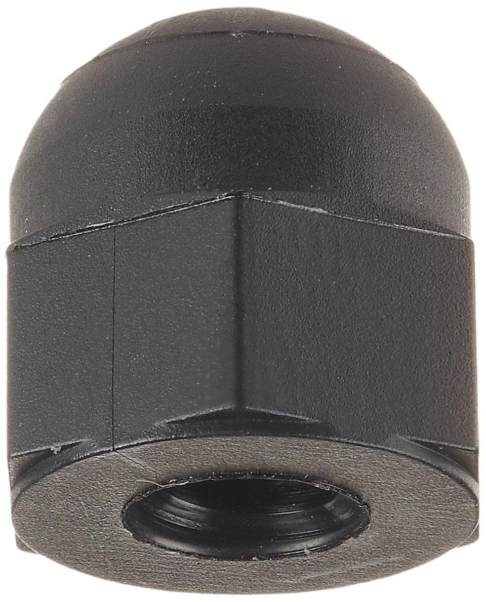 Nylon 6/6 Acorn Nut, USA Made, Black, #8-32 Thread Size, 21/64'' Width Across Flats, 3/8'' Height, 15/64'' Minimum Thread Depth (Pack of 100)