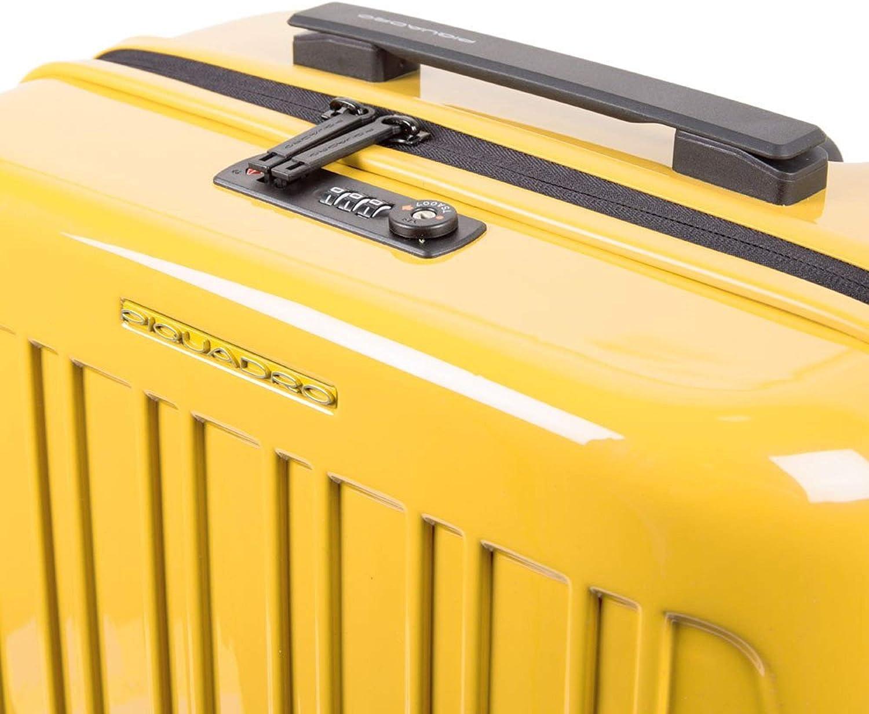 Piquadro trolley cabina rigido ultra slim a quattro ruote Seeker Pop BV5027SK70//G giallo novit/à 2020