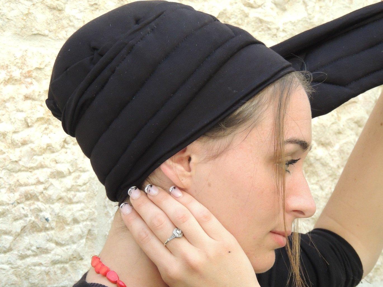 Sara Attali Design Tichel Volumizer Head Scarves, Chemo Volumizing Super Plus Black by Sara Attali Design (Image #4)