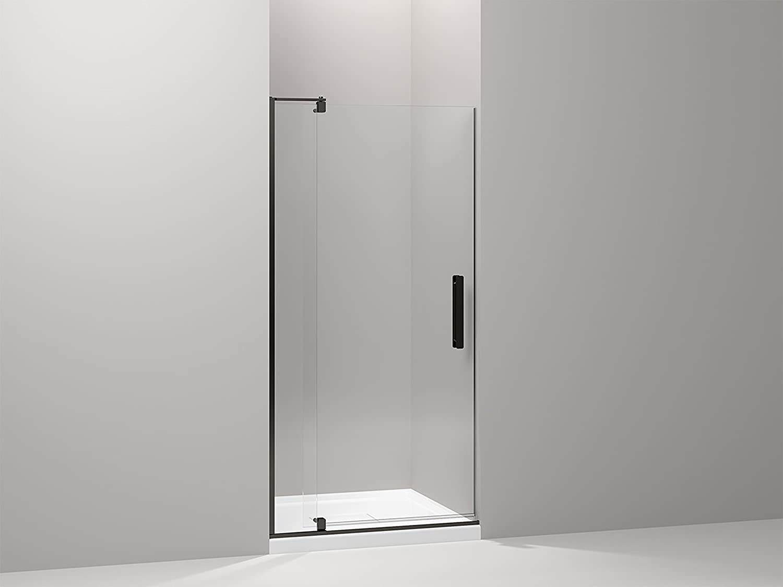 KOHLER K-707511-L-BNK Revel Pivot Shower Door with 5/16\