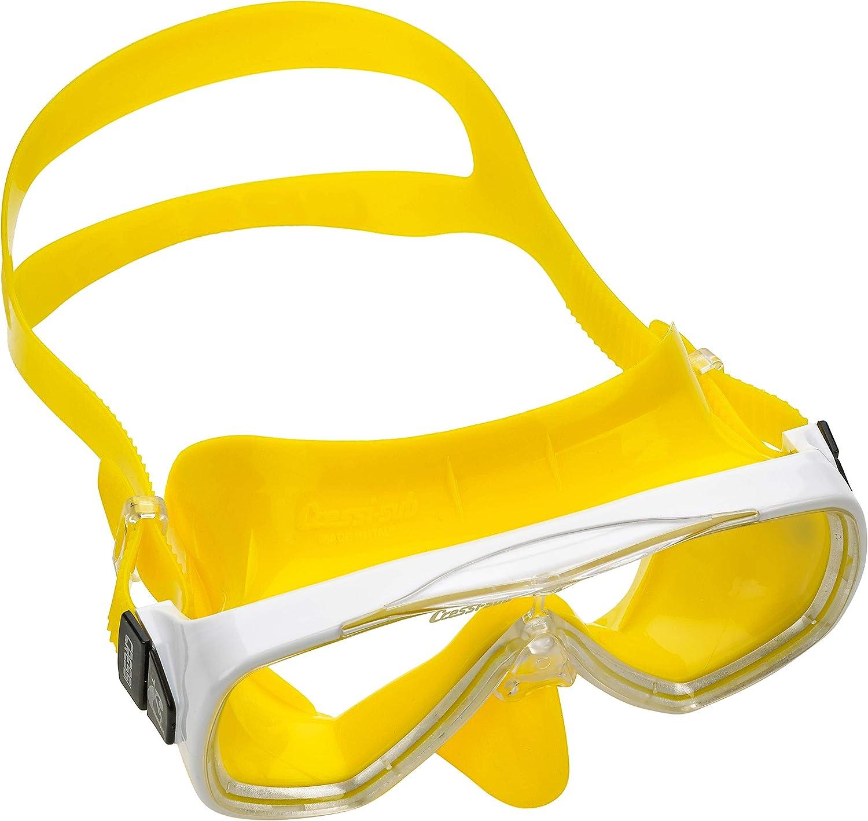 Cressi Italian Designed Premium Ultra-Clear Tempered Glass Lens Onda Scuba Snorkeling Dive Mask Snorkel Set