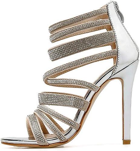 Arrival Silver Ladies Sandals Peep Toe