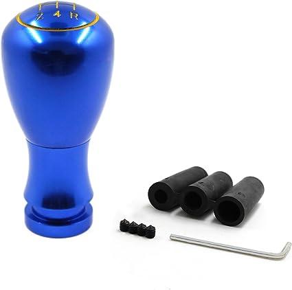 MODAUTO Pomo para Palanca de Cambio Manual con 5 Marchas, Universal, Modelo G320BL, Color Azul: Amazon.es: Coche y moto