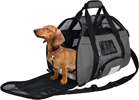 Tirrinia Soft Sided Pet Travel Carrier for Small Dogs and Cats