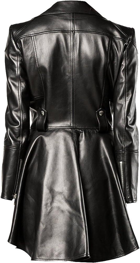 9ed4ed43c Medusa Black Peplum Fashionable Designer Genuine Leather Jacket Women Missy  Plus Size