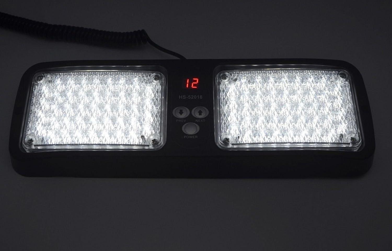 Nirnanada Bleu 12/V 86/LED Lampe de Pare-Soleil de Voiture SUV 4/WD Support Pare-Soleil durgence Stroboscope